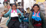 Indigenous peoples in a Chiapas street.
