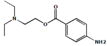 Chemical structure of Procaine