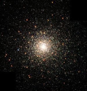 The globular cluster M80. Stars in globular clusters are mainly older metal-poor members of population II