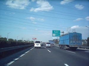 The Jingkai Expressway near the Southern 4th Ring Road (October 2004 image)