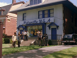 Hitsville USA, as seen in The Temptations (1998). The look of the building has been preserved from the classic Motown era, and the building now houses the Motown Museum.