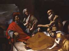 Jacob blessing his grandchildren, Ephraim and Manasseh, in the presence Joseph and their mother Asenath. Whitfield Fine Art Museum.