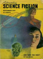 "The famous November 1949 ""future"" issue, in which all the stories had previously been ""reviewed"" in November of 1948"