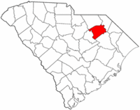 Map of South Carolina highlighting Darlington County