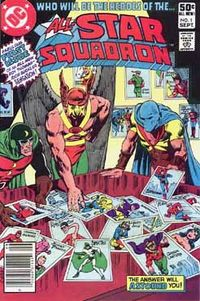 All-Star Squadron #1. Cover art by penciler-inker Rich Buckler.