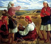 The Soviet Union was a largely agricultural society at birth. Zinaida Serebryakova. Harvest. 1915