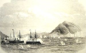 The Naval Battle of Hakodate, Japan's first engagement between two modern fleets.