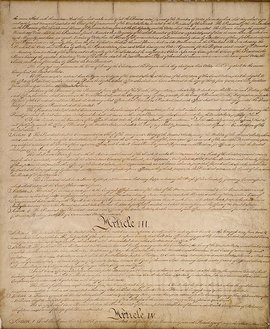 Page III of the United States Constitution