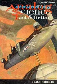 A United States submarine in Martian orbit, propelled there by a Dean drive, on an Astounding cover.