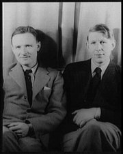 Christopher Isherwood (left) and W.H. Auden (right), photographed by Carl Van Vechten, 1939