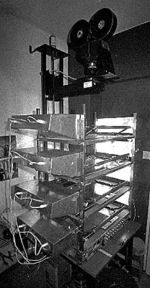 A multiplane camera built by an animation hobbyist in 1972.