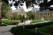 The North Terrace entrance. From L to R: The Mitchell Building, Elder Hall, Bonython Hall.