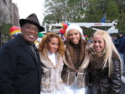 The Cheetah Girls and Al Roker at The Macy's Thanksgiving Day Parade.