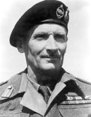 Field Marshal Bernard Law Montgomery, Commander of the British 8th Army.
