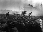 Soviet soldiers fighting in the ruins of Stalingrad, 1942.
