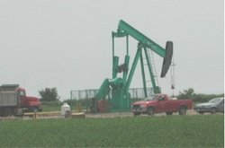 An oil well near Sarnia