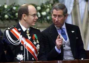 His Serene Highness Albert II, Prince of Monaco (on the left) represents a principality where he wields administrative power. His Royal Highness The Prince Charles, Prince of Wales represents a titular principality with no administrative power.
