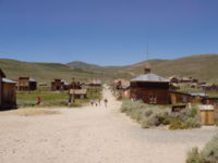 Bodie, California, as seen from the hill looking to the cemetery