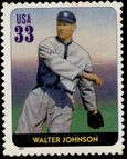 2000 stamp issued by the USPS to commemorate Walter Johnson.